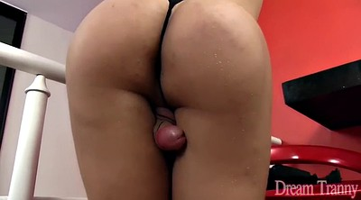 Ebony shemale, Big dildo, Shemale black