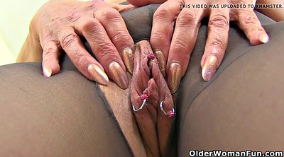 Milf, English, Nylon mature, Mature pantyhose, British granny, Pantyhose mature