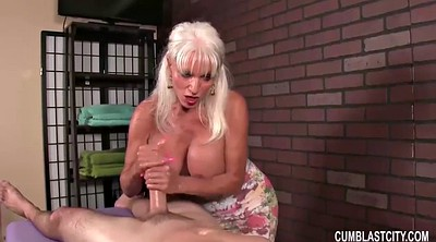 Mature massage, Granny handjobs