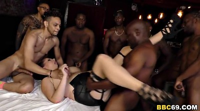 Group anal, Interracial gangbang