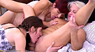 Mom young, Two old, Two milf, Mom daughter, Granny lesbian