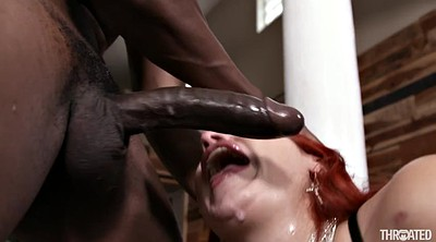 Interracial, Throat fucking, Black hair