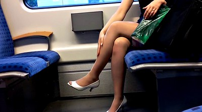 Nylon foot fetish, Nylon foot, Leggings, Train, Peep