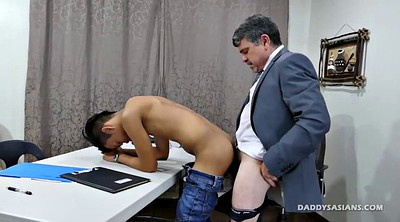 Daddy, Asian office, Gay daddy, Old dad, Asian old