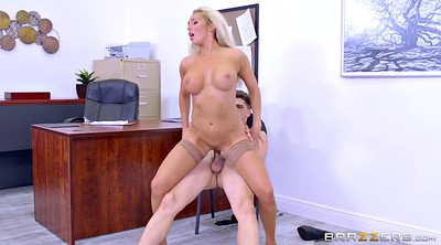 Riding, Fox, Busty blonde, Employee
