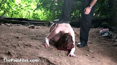 Outdoors bondage, Humiliation