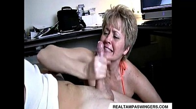 Watching porn, Caught, Hand job