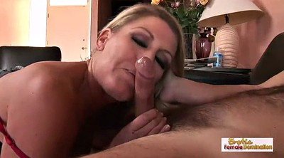 Deepthroat, Mature blonde gets fucked