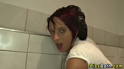 Pissing, Teen piss, Piss teen, Bathroom