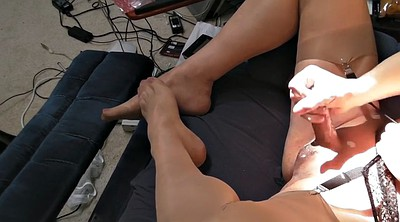 Heels, Girl feet, Gay feet, Stocking feet, Heel stocking, Cum in stockings