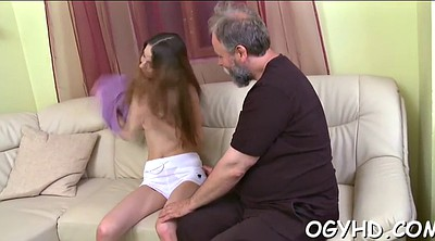 Old young, Russian granny, Young amateur