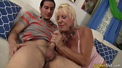 Boy, Granny boy, Seducing, Mature massage