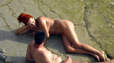 Beach, Caught, Beach sex, Voyeur couple, Public couple