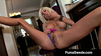 Big dildo, Fit, Busty mature, Swedish, Puma swede, Mature big tits