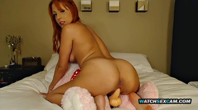 Bear, Mature dildo, Ride dildo, Dildo riding