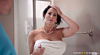 Reagan foxx, Huge tits, Stepson, Reagan, Voyeur shower