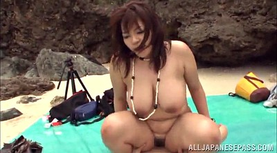 Asian big tits, Outdoor gangbang