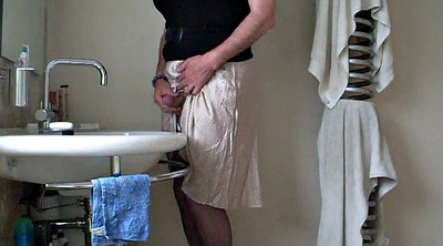 Crossdresser, Big cock, Crossdresser cum