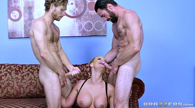 Phoenix marie, Threesome milf, Gloves, Two cock