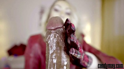 Leather, Gloves, Jerking handjob, Bbc handjob