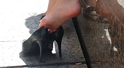 Heels, Shoe, Shoes, Candid, Foot fetish
