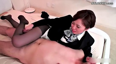 Japanese pantyhose, In pantyhose, Japanese footjob, Pantyhose footjob