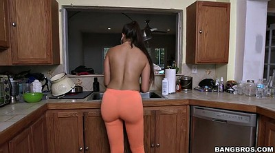 Gloves, Busty, Kitchen, Clean