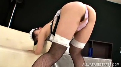 Asian masturbation pussy, Tits out, Maid sex