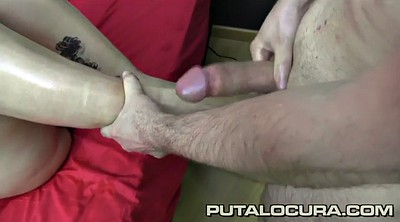 Footjob, Huge load