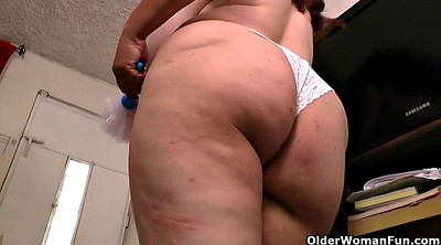 Cloth, Bbw mature, Cleaning