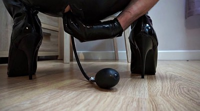 Latex, Boots, Butt plug, Latex sex