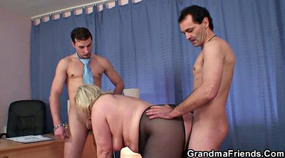 Mature, Grandma, Wife threesome, Granny mature, At work