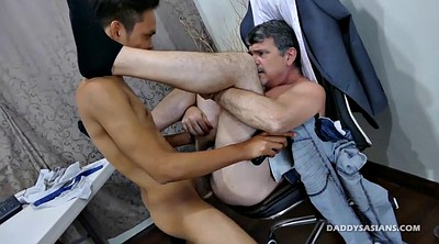 Dad, Asian office, Asian daddy, Gay daddy, Old dad, Old asian