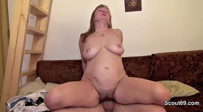 Mature, German couple, First porn