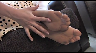 Nylon feet, Nylon foot, Sexy nylon feet, Teasing