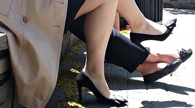 Candid, Shoes, High-heeled shoes