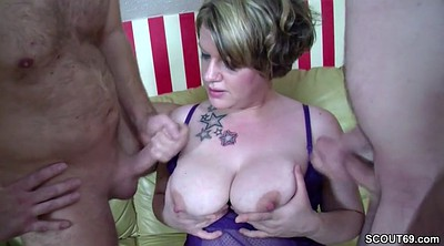 Couple threesome, Three times, Real sex, German couple, First time sex