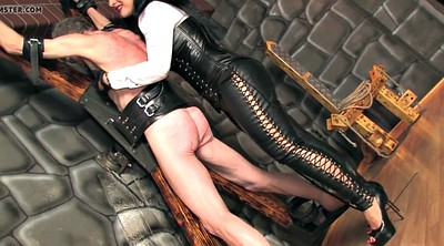 Whipping femdom, Leather, Femdom whipping