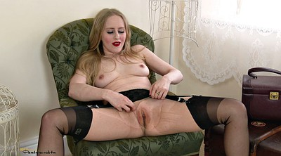 Skinny mature, Mature blonde, Business, Lingerie show