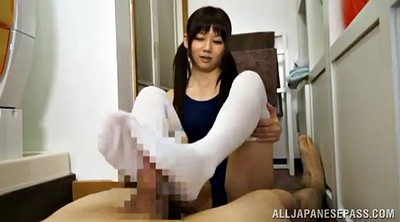 Footjob, Asian feet, Suit, Asian footjob
