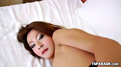 Shemale solo cumshot, Asian solo