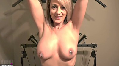 Torture, Big nipples, Nikki, Shaking