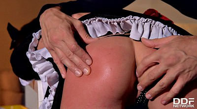 Maid, Boss, Upskirts, Beauty creampie