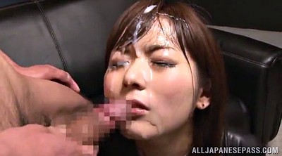 Latex, Asian gangbang, Asian bukkake