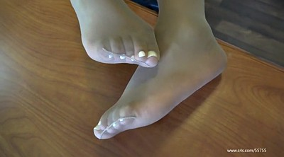 Nylon feet, Shoeplay, Pantyhose feet