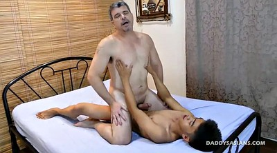 Asian young, Old dad gay, Young boy, Old boy, Bareback, Asian old gay
