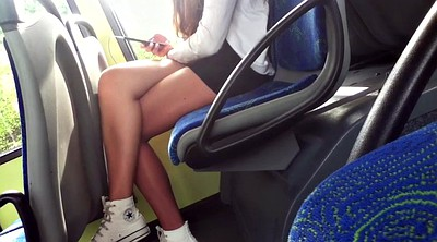 Bus, Amateur, Teen legs