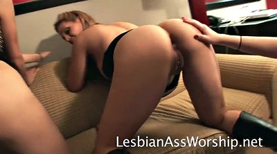 Trained, Lesbian ass licking, Brittany, Ass eat