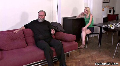 Father, Sons girlfriend, Sons gf, Old father, Czech amateur