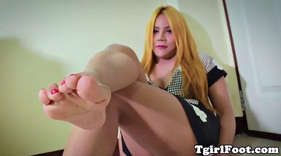 Ladyboy solo, Ladyboy feet, Shemale solo, Beautiful shemale